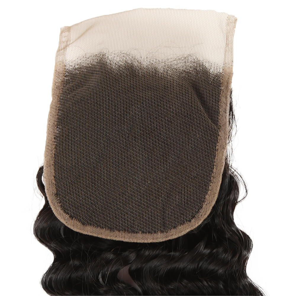 natural culy human hair 4*4 lace closure lace net