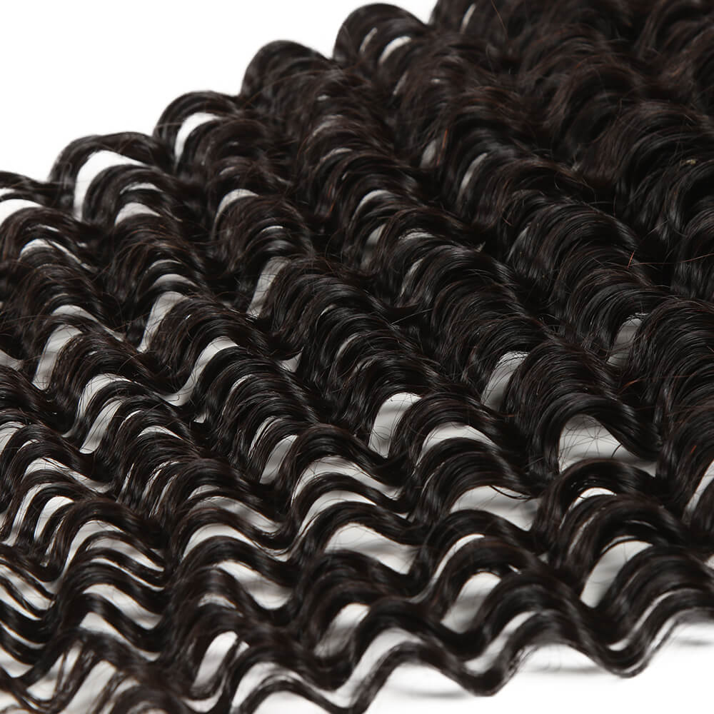 Curly human hair 13*4 lace frontal-curly