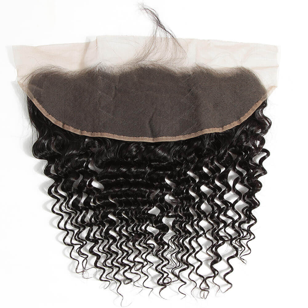 natural culy human hair 13*4 lace frontal back