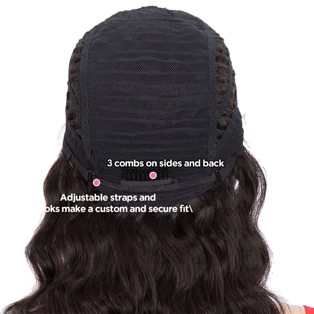 Human Hair Middle Part Lace Loose Body Wig