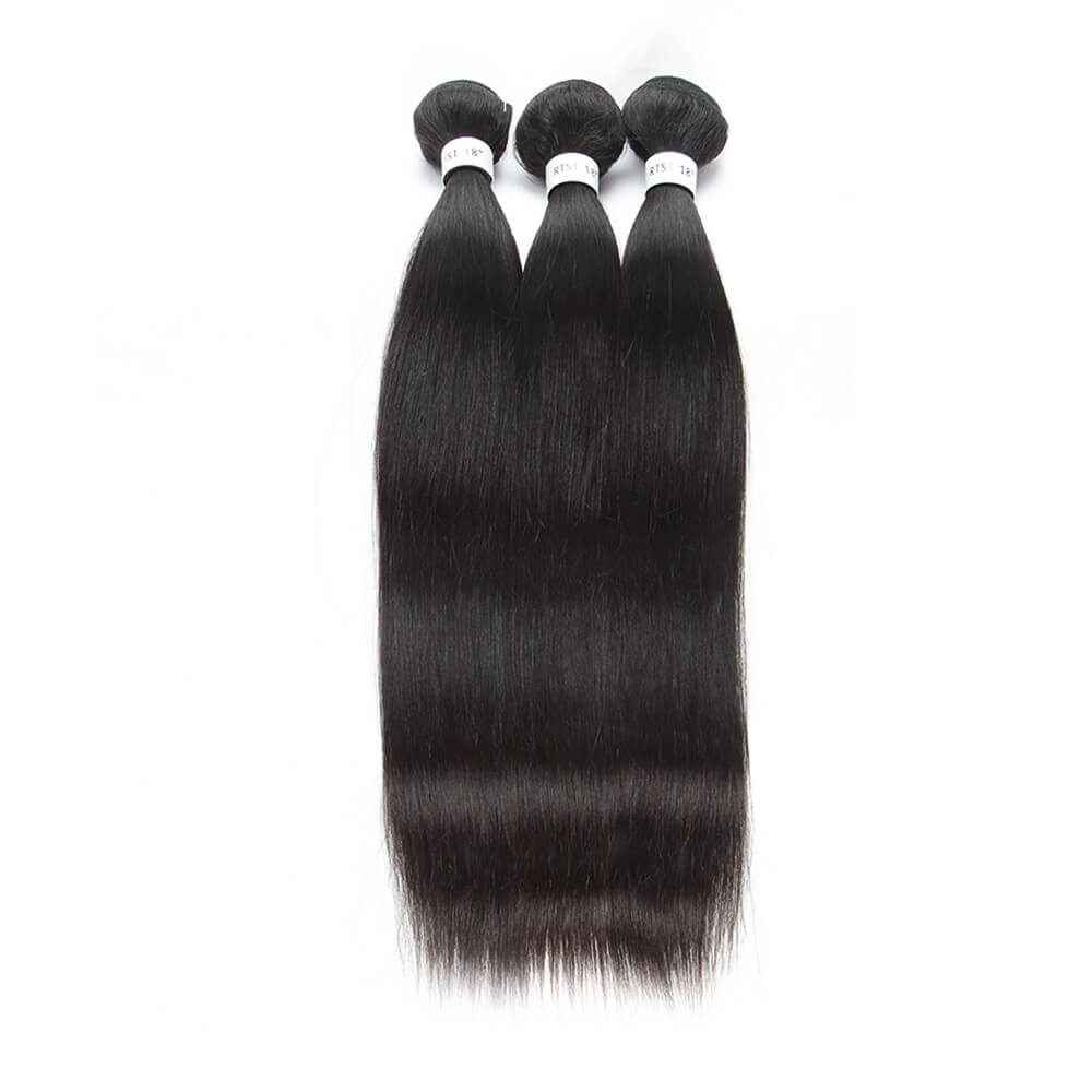 Temple Virgin Straight Hair 3 Bundles