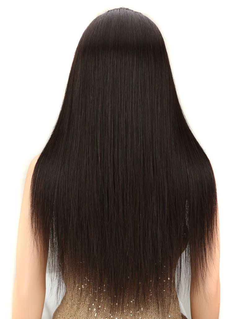 natural straight human hair full lace wig back