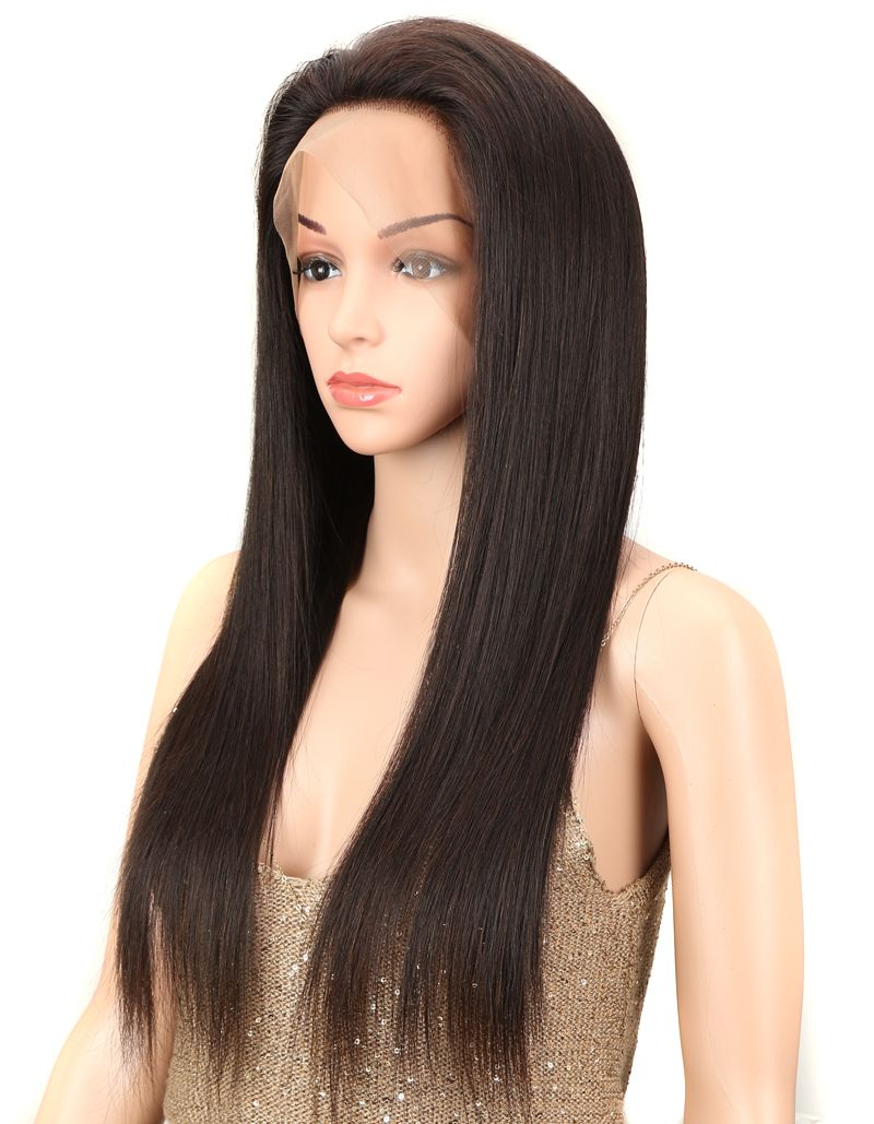 natural straight human hair full lace wig side