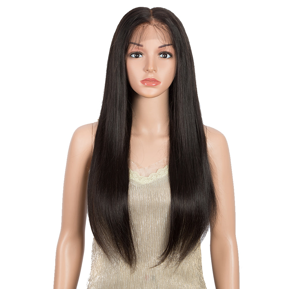 13*6 Lace Frontal Straight Human Hair Wigs Bleach Knots Wig