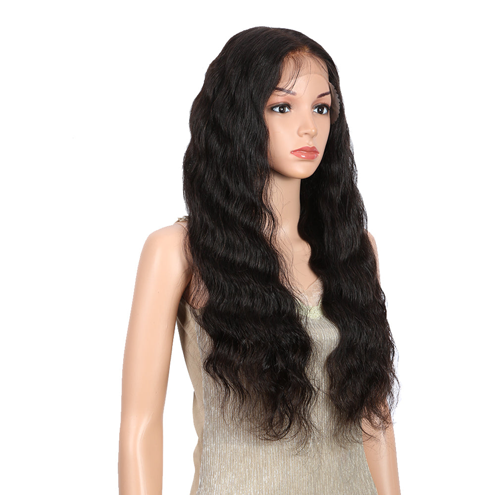 13*6 Lace Frontal Human Hair Wigs Bleach Knots Body Wave Wig