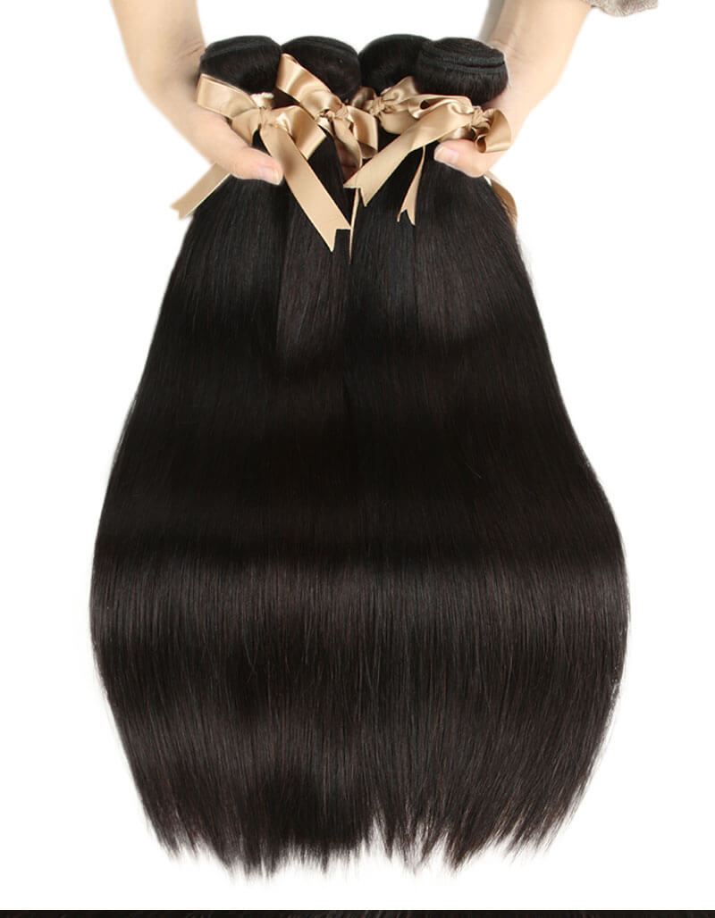Queen Remy 4 Bundles Straight Hair