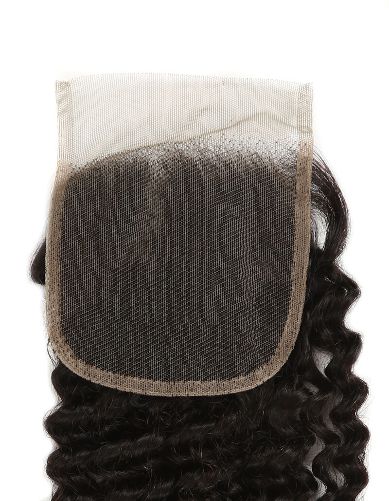 natural kinky curly human hair 4*4 lace closure lace net