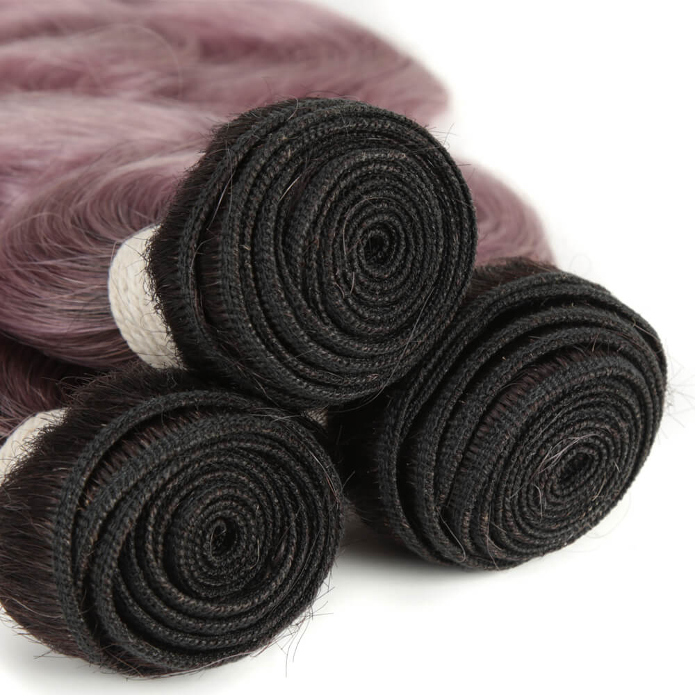 purple body wave human hair bundles weft
