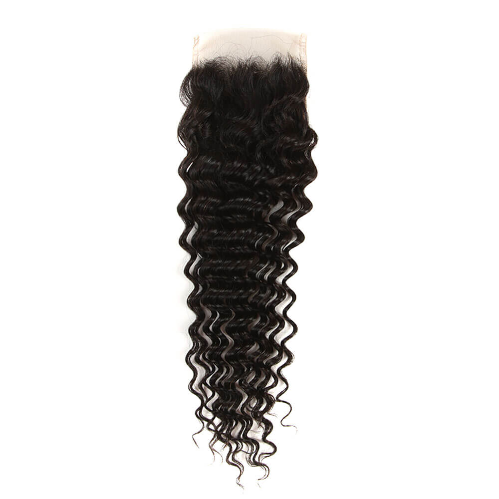 natural culy human hair 4*4 lace closure