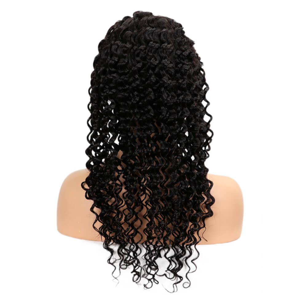 natural deep wave human hair full lace wig back