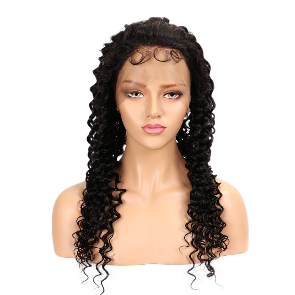 natural deep wave human hair full lace wig