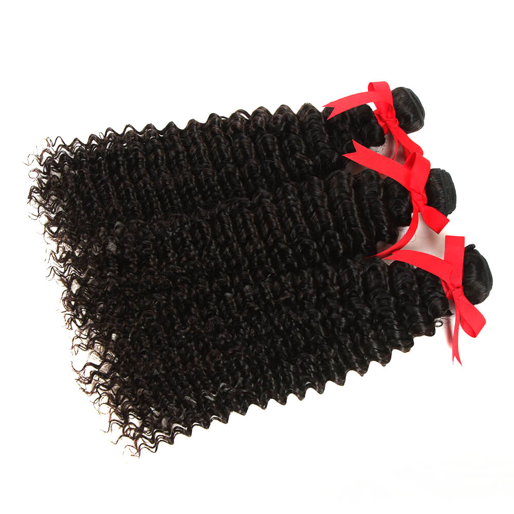 natural curly human hair 3 bundles