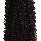 natural kinky curly human hair 3 bundles detail