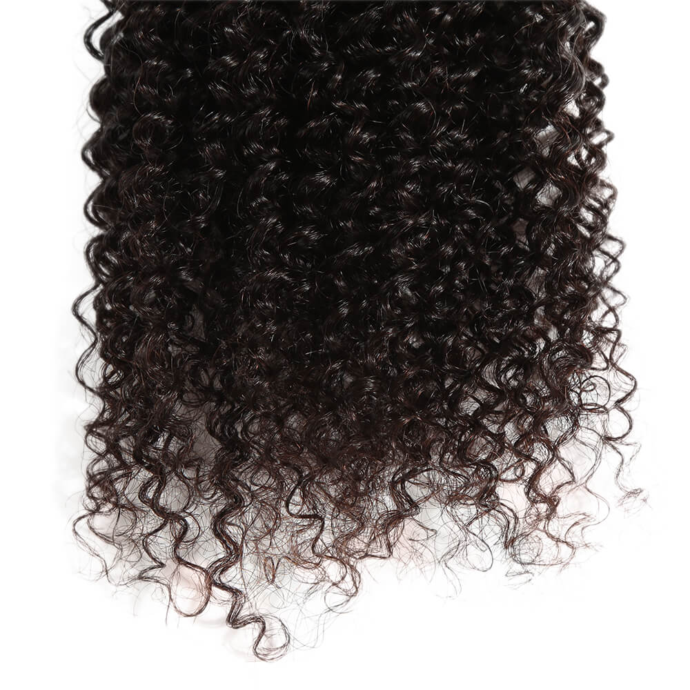 natural kinky curly human hair bundle end