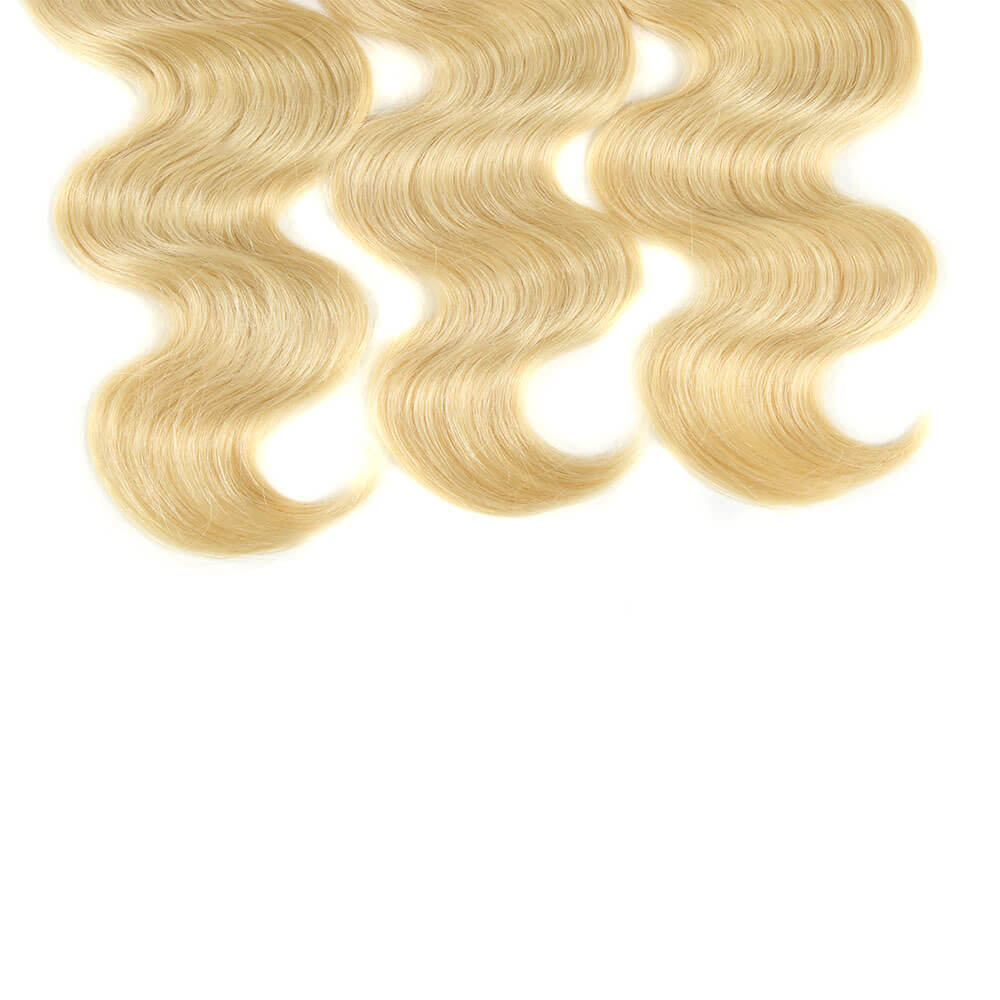 blonde body wave human hair 3 bundles end