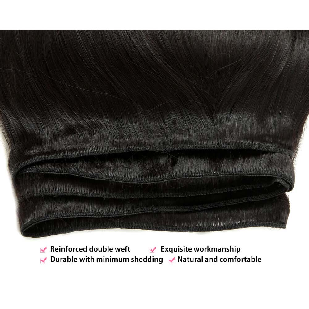 Temple Virgin Straight Hair Bundle