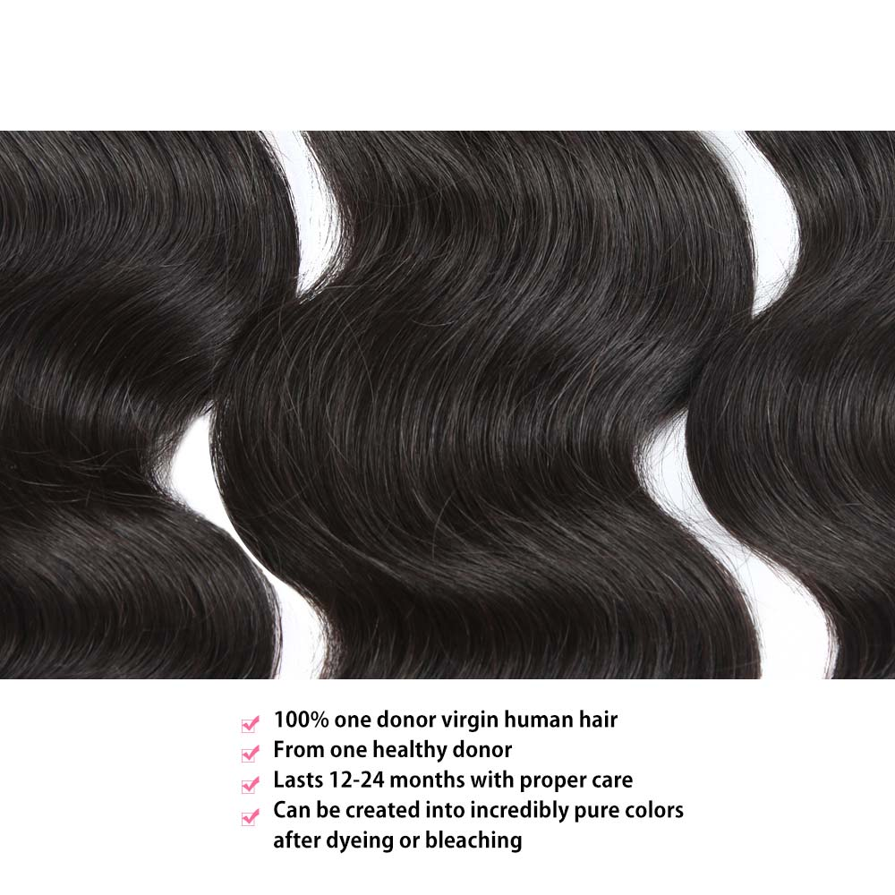 Temple Virgin Hair Body Wave 3 Bundles