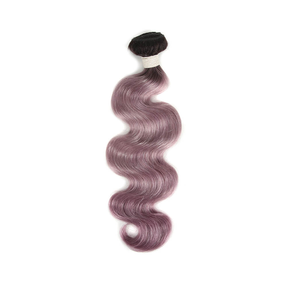 ombre purple human hair body wave bundle