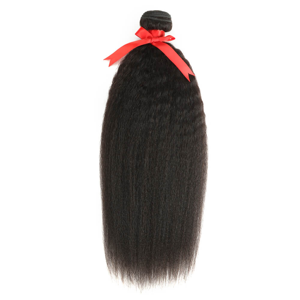 natural kinky straight human hair bundle