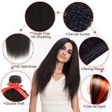 natural kinky straight human hair bundle detail show