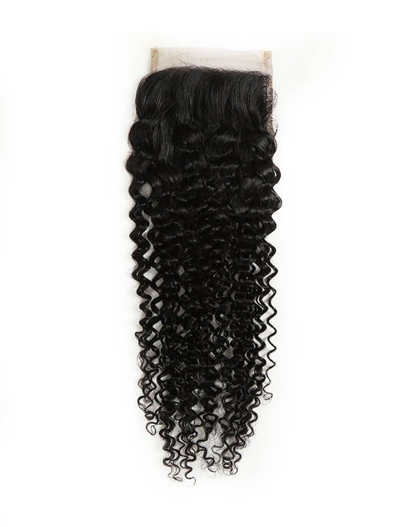 Queen Remy 4x4 Closure Jerry Curl