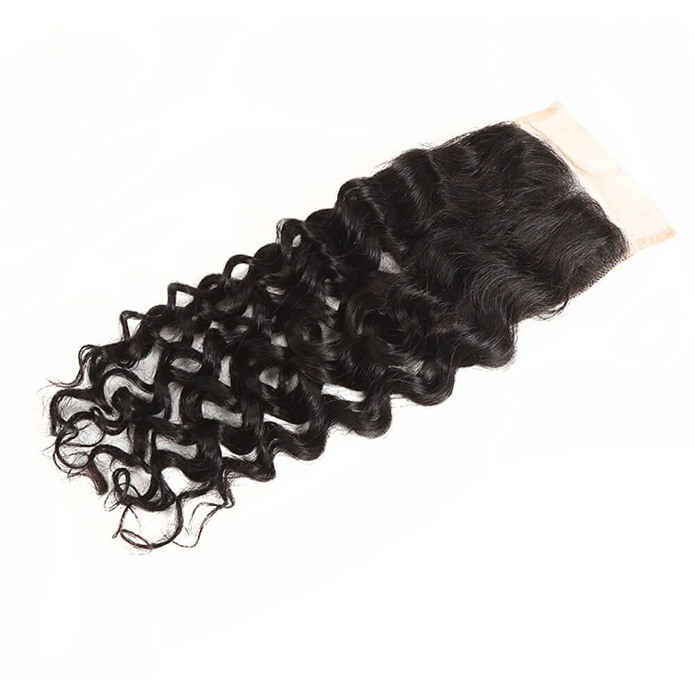 Queen Remy Water Wave 3 Bundles With 4x4 Lace Closure