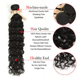 Queen Remy Water Wave 4 Bundles With 4x4 Lace Closure
