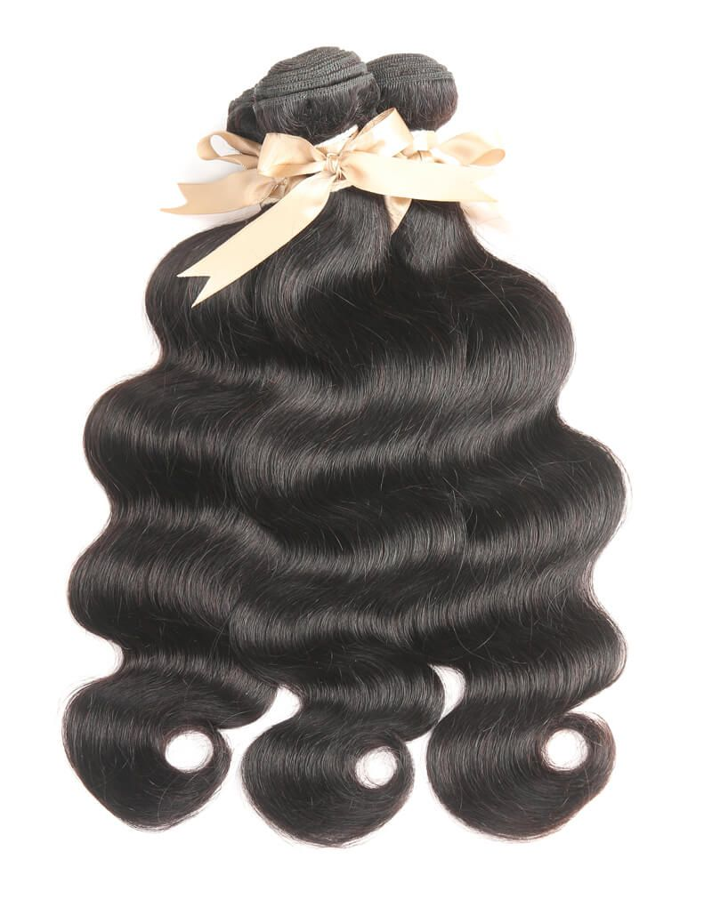 Queen Remy 3 Bundles Natural Black Body Wave