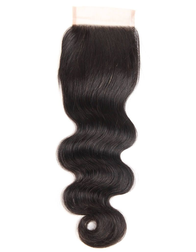 Queen Remy 3 Bundles Body With 4x4 Lace Closure