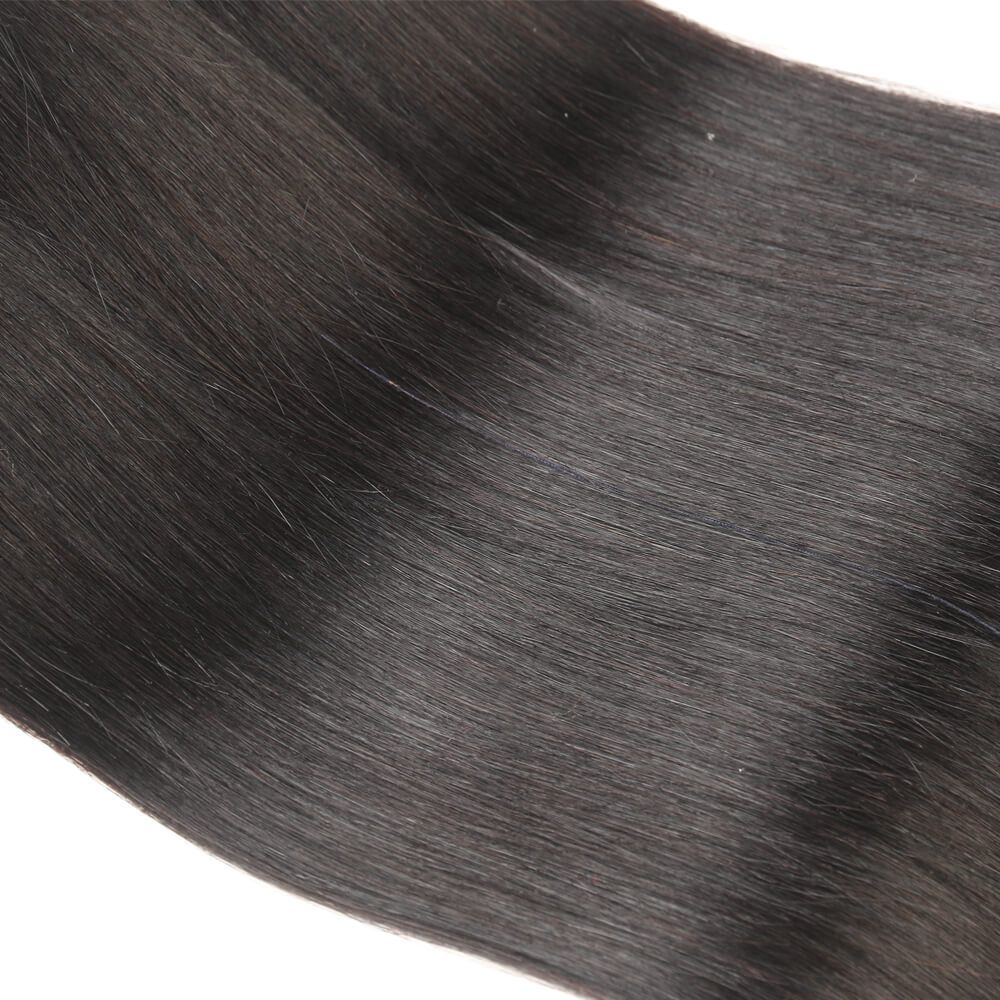 Queen Remy 3 Bundles Natural Black Straight Hair