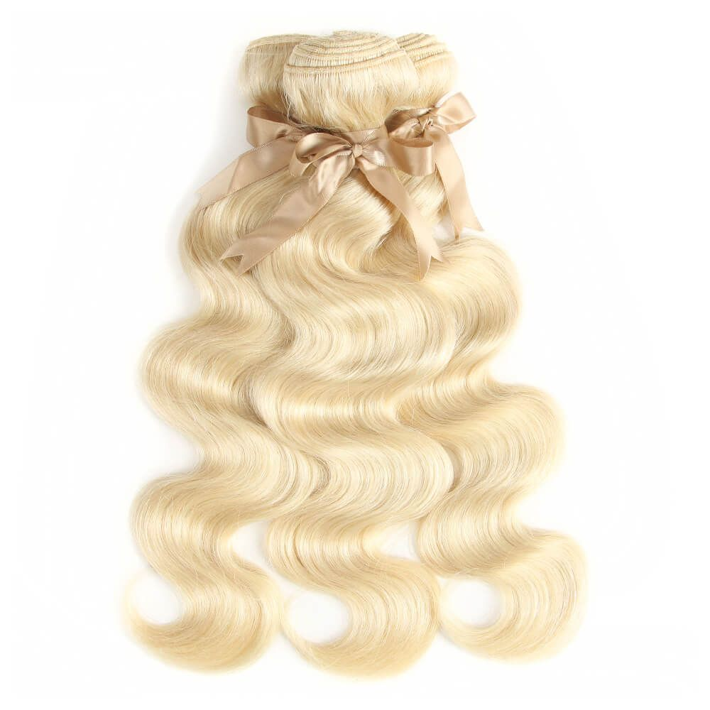 Queen Remy Blonde Body Wave 3 Bundles With 4x4 Lace Closure