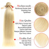 Queen Remy Blonde Straight Hair 3 Bundles