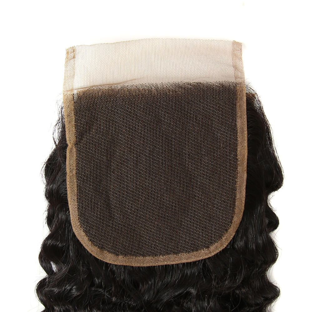 Queen Remy 4 Bundles Jerry Curl With 4X4 Lace Closure