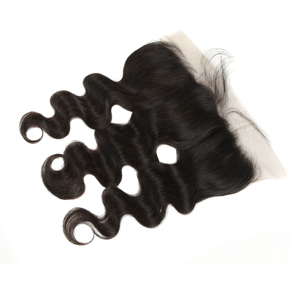 natural human hair body wave with 13*4 lace frontal closure