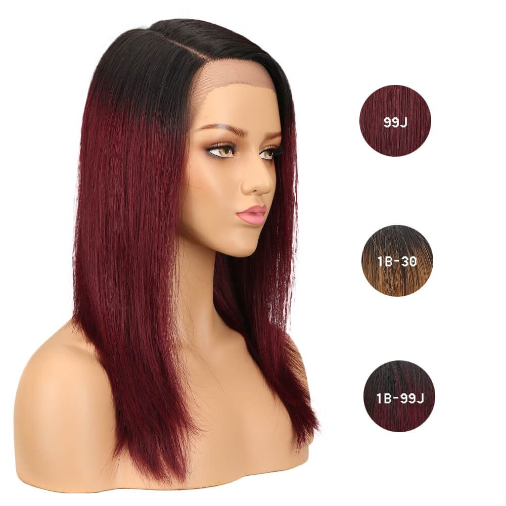 JENNIFER Lace Front Human Hair Straight Wig 19 Inch