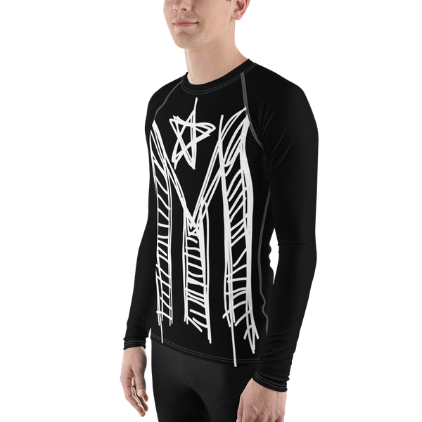 Mi Bandera Sketch - Rash Guard