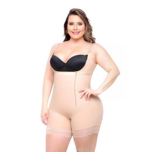 Body Shaper Braless Lace Short & Thin Straps
