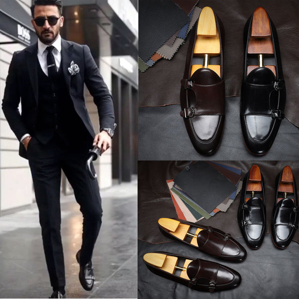 Men's Fashion Buckle Leather Shoes