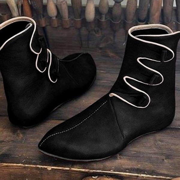 Men's Vintage Pointed Toe Flat Boots