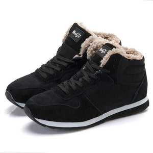 Men Shoes Winter Sneakers Suede Leather Boots