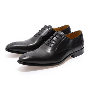 Genuine Leather Luxury Brand Oxfords Men Shoes