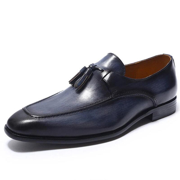 LUXURY GENUINE LEATHER TASSEL LOAFERS