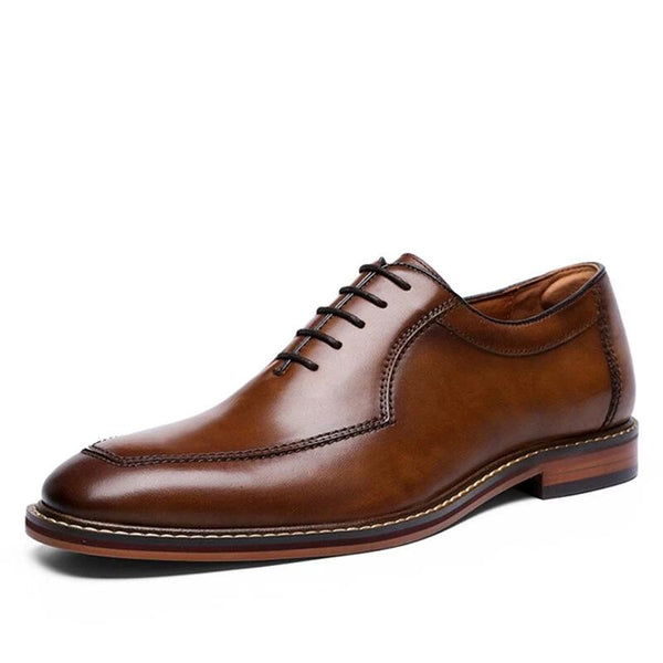 Men Genuine cow leather brogue wedding Shoes