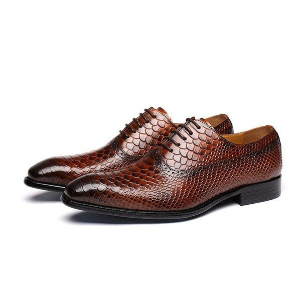 Bespoke Custom Handmade Python Skin Calf Leather Shoes
