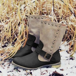 2019 Autumn Section Thick High-top Women's Boots