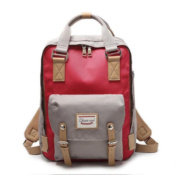 Waterproof Vintage Travel Backpack Backpacks PacksOnBack White with red Small