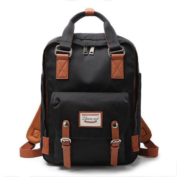 Waterproof Vintage Travel Backpack Backpacks PacksOnBack Black Small