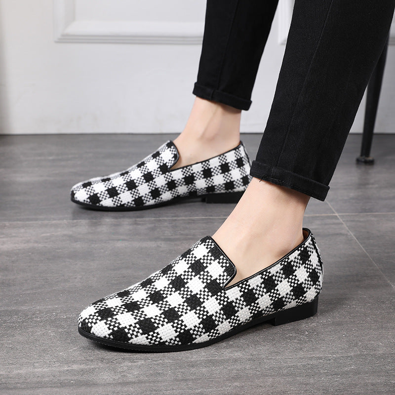 Men's Plaid Fringe Loafers