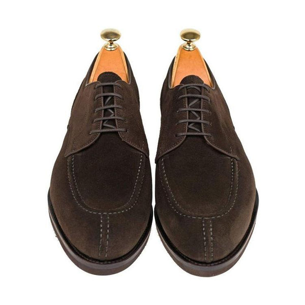 Suede Lace-Up Formal Dress Shoes