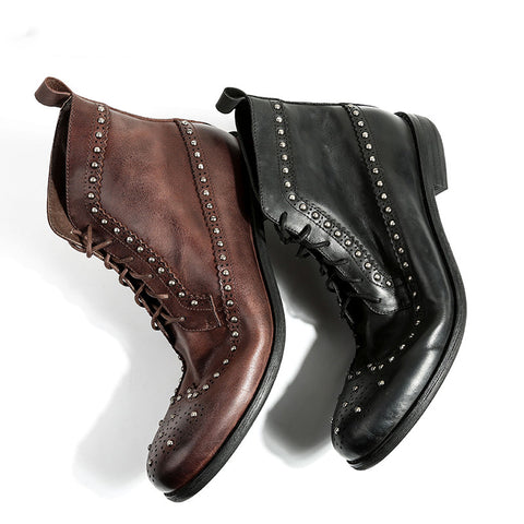 Brock Carved Trend Martin Boots